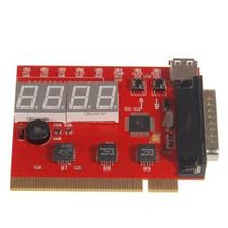Placa Diagnóstico 4 Dígitos Usb Lpt Pci Debug Card Analyser