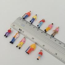 10 Figuras Pintadas, Esc. 1:75, Miniatura Escala P/ Maquete