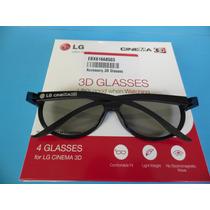 Óculos 3d Lg Ag-f310 Caixa Com 4 Pçs Novo!!!!!
