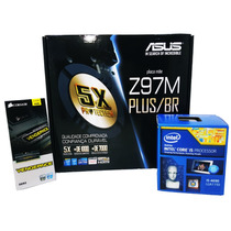 Kit Asus Z97m-plus/br + Intel I5 4690 Lga 1150 + 4gb Corsair