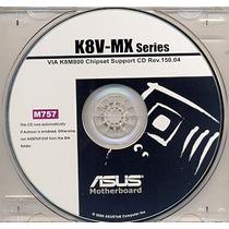 Cd Drivers Original Placa Mae Asus K8v-mx Frete Gratis