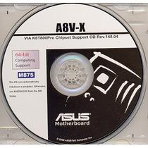 Cd Drivers Original Placa Mae Asus A8v-x Frete Gratis