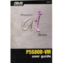 Manual Original Placa Mae Asus P5s800-vm Frete Gratis
