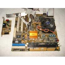 Kit Placa Mãe Gfxcel + Celeron 466 + Cooler + 64mb Memória