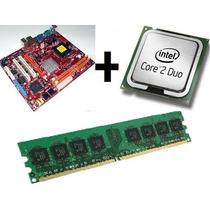 Kit Placa-mãe Lga 775 Ddr2 + Core2duo + 1gb Ddr2 Barato!!!