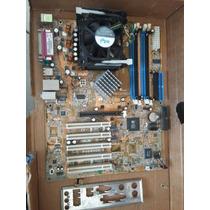 Placa Mãe Asus P4s800d-x + Pentium 4 3.00ghz Ht + Cooler