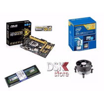 Kit Intel Asus H81m-a + Core I3 4170 + 4gb Ddr3 1600mhz