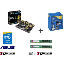 Kit Intel Core I5 4430 + Asus B85m-e + 8gb 1600mhz Kingston
