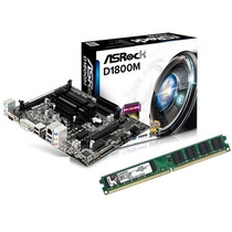 Kit Asrock D1800m Celeron Dual Core 2.58ghz + 4gb Memória