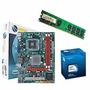 Kit Placa Mae 775 Drr3 Nova +2 Gb Prossesador Core2duo