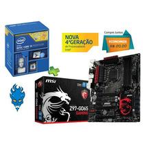 Kit Placa Mãe Gamer Msi Z97-gd65 + Processador Core I5-4690k