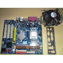 Kit Gigabyte Ga-8i865gme-775 Com Celeron E 2 Gb De Memória