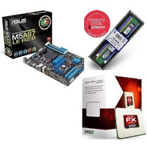 Kit Fx-8350 Am3+ Placa-mãe Asus M5a97 Le R2.0 + Kingston 4gb