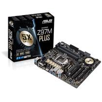 Placa Mae Asus Z97m-plus Lga1150 Intel Z97 Sata 6gb Hdmi