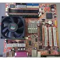 Kit Placa Mãe 478 Com Processador E Cooler E 512 Mb