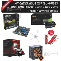 Kit Gamer Fx-6300, Asus M5a78l-m Usb3, Gtx 750ti, 4gb, 400w