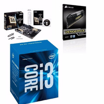 Kit Placa Asus Z170-p + Intel Core I3 6300 + 8gb Corsair Pro
