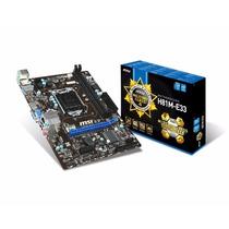 Placa Mae Lga 1150 Intel Msi H81m-e33 Matx Ddr3 1600 Mhz Ch
