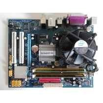 Kit Placa Mãe 775 Ddr2 Ga-945gcm-s2+ Dual Core E2200+2gb!!
