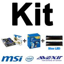 Kit Msi B85m-e45 + Intel I3-4170 + Memórias 8gb (2x4gb)