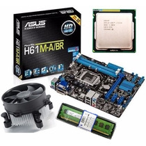 Kit Asus H61 M-a/br Hdmi Dvi + Core I3 Lga 1155 3.1ghz + 4gb