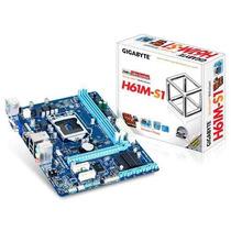 Placa Mae Lga 1155 Intel Gigabyte Ga-h61m-s1 Matx Ddr3