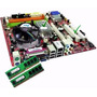 Kit Placa Mãe 775 + Core 2 Duo + Memoria 2gb + Cooler