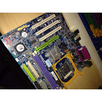 6. Placa Mãe Gigabyte Ga-8vm800m + Intel Celeron D 2.66ghz