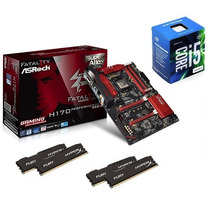 Kit Asrock Fatal1ty H170 Performance + I5-6400 + 16gb Ddr4