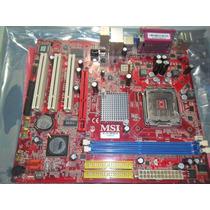 Placa Mae Msi Pm8pm-v Socket 775 Ddr 2 Com Espelho