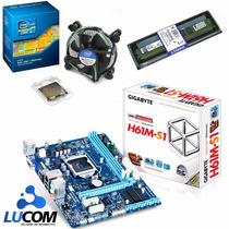 Kit Placa Mãe + Core I3 3250 3.5 + Memória Ddr3 4gb Kingston