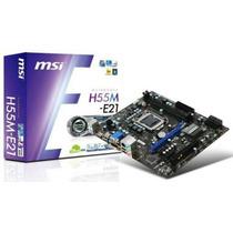 Kit Placa Msi H55m-e21 + Core I3 550 3.20 Ghz Sem Cooler