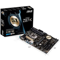 Placa-mãe Asus Z97-k 4 Slots Memória Ram Ddr3 Sem Juros