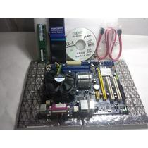 Placa Mãe 775 Ddr2 - G31mxp Mega - Kit - Proc.+ Mem + Acess.