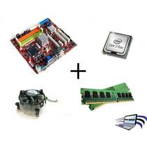 Kit Placa Mãe 775 Ddr2 Core 2 Duo+4gb Ram+cooler!garantia!