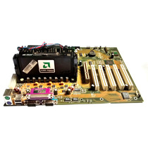 Kit Amd Placa-mãe + Athlon 600 Slot 1 + 64mb - Slot A Raro!