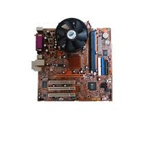 Kit Placa Mãe 775 Ddr1 + Pentium 4 + 1gb Ddr1 + Cooler