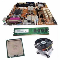 Kit Placa Mãe + Process Intel Dual Core + 2 Gb Ddr2 + Cooler
