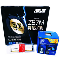 Kit Asus Z97m-plus/br + Intel I5 4440 + 8gb Hyperx Fury