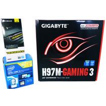 Kit Gigabyte H97m Gaming 3 4k + Intel I3 4170 + 4gb Corsair