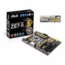 Placa Mãe Asus Atx Intel Lga 1150 Z87-a Crossfire Nova!