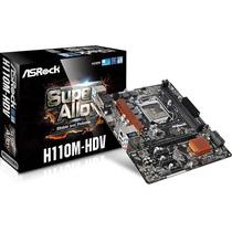 Placa Mãe Asrock H110m-hdv Intel Socket 1151 P/memoria Ddr4