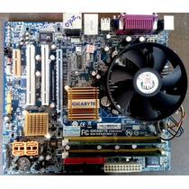 Kit Placa Mãe 775 Gigabyte Ga-945gcmx-s2+dual Core+espelho!