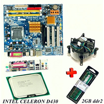Kit Placa Mãe 775 Ddr2 + Celeron D430 + 2gb Ddr2 + Cooler