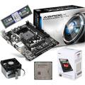 Kit Asrock Fm2a55m Vg3+ Processador A4 7300 4.0ghz Amd + 4gb