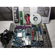 Placa Mãe 775 Ddr2-g31t-m7- Mega - Kit-proc. Core2quad + Mem