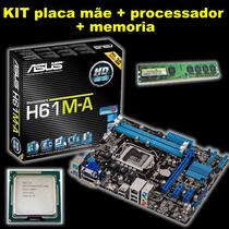 Kit Asus H61m-a + Dual Core G2030 3.0ghz + 4gb De Memoria