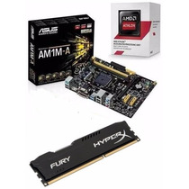 Kit Am1 Hdmi Amd Athlon 5150 Quad Core +4gb Memória Hyperx C