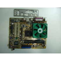 Placa Mãe Asus A7s8x-mx C/proc. Amd Semprom 2,80gh + Mem.2gb