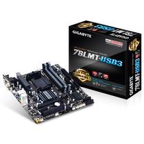 Placa-mãe Gigabyte Micro Atx P/ Amd Am3+ Ga-78lmt-usb3
